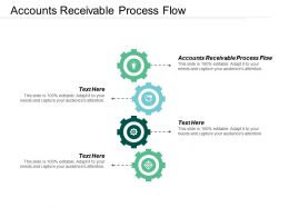 Accounts Receivable Process Flow Ppt Powerpoint Presentation Diagram Lists Cpb