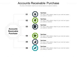 Accounts Receivable Purchase Ppt Powerpoint Presentation Layouts Inspiration Cpb