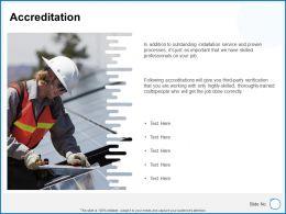 Accreditation F871 Ppt Powerpoint Presentation Gallery Design Inspiration