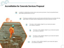 Accreditation For Concrete Services Proposal Ppt Powerpoint Presentation Pictures Brochure