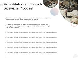 Accreditation For Concrete Sidewalks Proposal Ppt Powerpoint Presentation Introduction