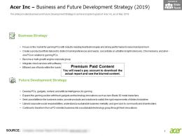 Acer Inc Business And Future Development Strategy 2019