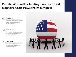 Achieve Cross Functional Team Leadership With American Unity Globe People Powerpoint Template