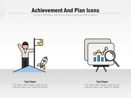Achievement And Plan Icons