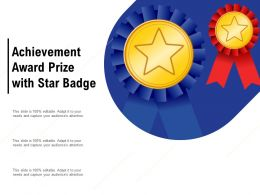 Achievement Award Prize With Star Badge