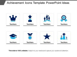 Achievement Icons Template Powerpoint Ideas