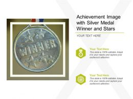 Achievement Image With Silver Medal Winner And Stars