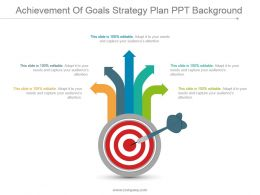 Achievement Of Goals Strategy Plan Ppt Background