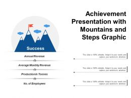 Achievement Presentation With Mountains And Steps Graphic