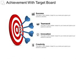 Achievement With Target Board Powerpoint Presentation