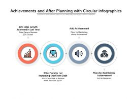 Achievements And After Planning With Circular Infographics