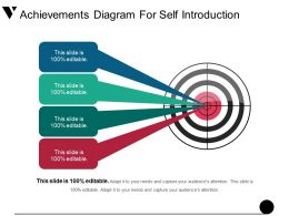 Achievements Diagram For Self Introduction Good Ppt Example