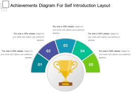 Achievements Diagram For Self Introduction Layout Sample Of Ppt