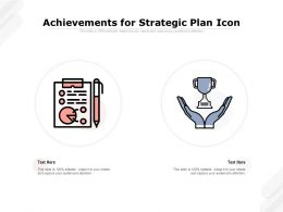 Achievements For Strategic Plan Icon