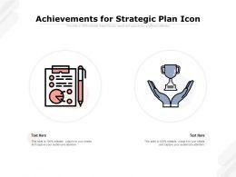 Achievements For Strategic Plan Icon