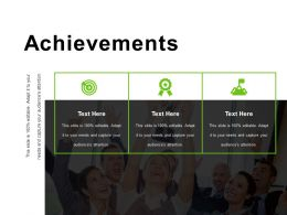 Achievements Powerpoint Shapes