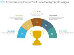 Achievements Powerpoint Slide Background Designs