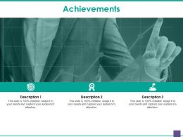 Achievements Presentation Graphics