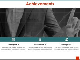 Achievements Sample Of Ppt Presentation