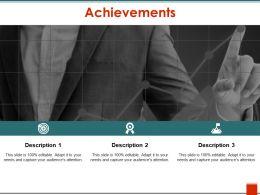 Achievements Sample Of Ppt Presentation