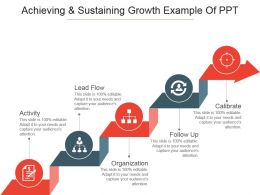 Achieving And Sustaining Growth Example Of Ppt