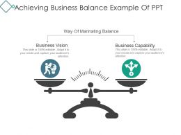 Achieving Business Balance Example Of Ppt