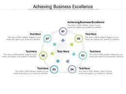 Achieving Business Excellence Ppt Powerpoint Presentation Inspiration Cpb