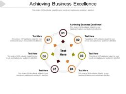 Achieving Business Excellence Ppt Powerpoint Presentation Summary Layout Cpb