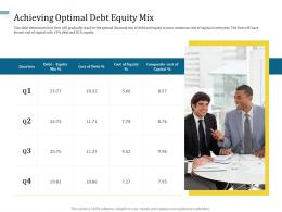 Achieving Optimal Debt Equity Mix Understanding Capital Structure Of Firm Ppt Graphics