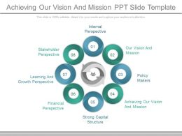 Achieving Our Vision And Mission Ppt Slide Template