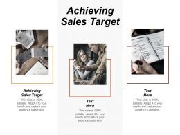 Achieving Sales Target Ppt Powerpoint Presentation File Visuals Cpb