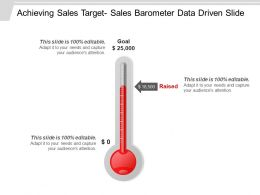 Achieving Sales Target Sales Barometer Data Driven Slide Ppt Background