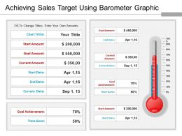 Achieving Sales Target Using Barometer Graphic Ppt Model