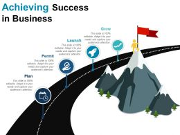 Achieving Success In Business Sample Of Ppt Presentation