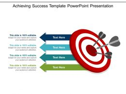 Achieving Success Template Powerpoint Presentation