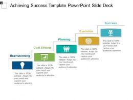 Achieving Success Template Powerpoint Slide Deck