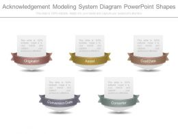 Acknowledgement Modeling System Diagram Powerpoint Shapes