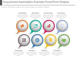 Acquirement Assimilation Example Powerpoint Shapes