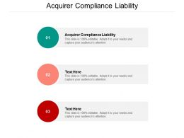 Acquirer Compliance Liability Ppt Powerpoint Presentation Icon Format Cpb