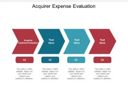 Acquirer Expense Evaluation Ppt Powerpoint Presentation Pictures Backgrounds Cpb