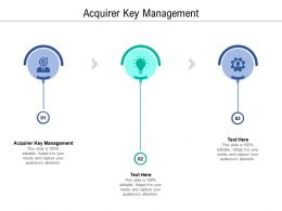 Acquirer Key Management Ppt Powerpoint Presentation Slides Display Cpb