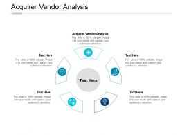 Acquirer Vendor Analysis Ppt Powerpoint Presentation Visual Aids Model Cpb