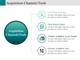 Acquisition Channels Tools Powerpoint Slide Themes