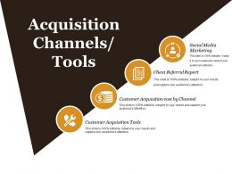 Acquisition Channels Tools Sample Of Ppt
