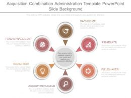 Acquisition Combination Administration Template Powerpoint Slide Background