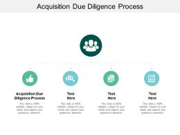 Acquisition Due Diligence Process Ppt Powerpoint Presentation Gallery Elements Cpb