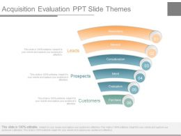 Acquisition Evaluation Ppt Slide Themes