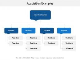 Acquisition Examples Ppt Powerpoint Presentation Infographic Template Visual Aids Cpb