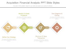 Acquisition Financial Analysis Ppt Slide Styles
