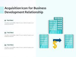 Acquisition Icon For Business Development Relationship